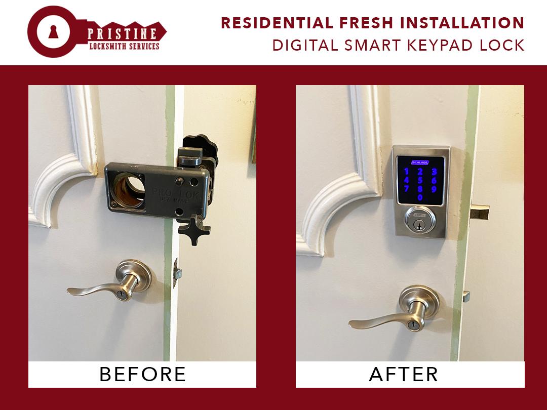 Residential Fresh Installation0Digital Smart Keypad Lock